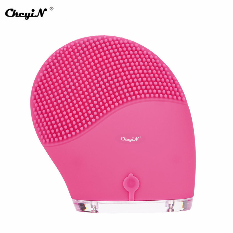 Image 2 - Electric Sonic Face Brush Silicone Facial Cleansing Brushes Skin Care Scrubbing Acne Blackhead Remover Pore Cleaner Massager 38-in Face Skin Care Tools from Beauty & Health