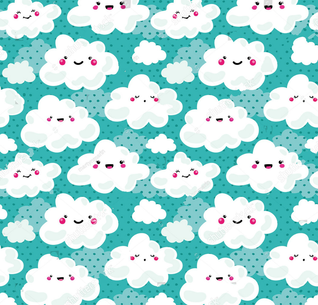 happy cloud Funny cute blue photo backdrop Vinyl cloth High quality Computer print wall background