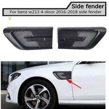 fake Carbon fiber  Side Fender Vent Trim for Benz w213 E200 E220 E250 E300 4 door