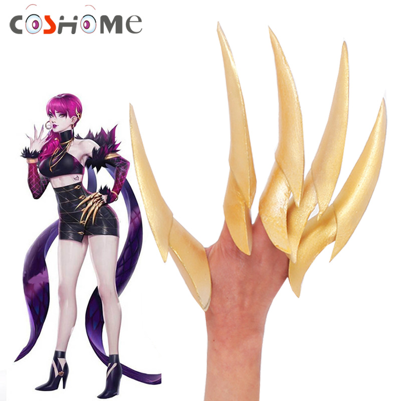 Coshome LOL KDA Evelynn Cosplay Costume Props EVA Paws Cosplay Accessories for Halloween Party