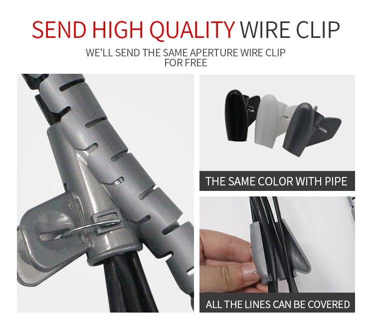 5 Mt/rolle 28 MM Spiralkabel Wire Wrap rohrbündel linie rohr Draht ...