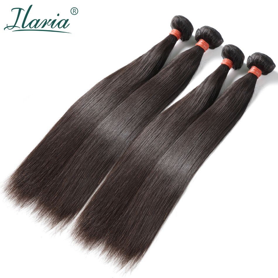 ILARIA HAIR Mink 8A Brazilian Virgin Hair Straight 4 Bundles 08 36 100 Unprocessed Human Hair