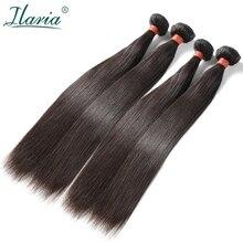 """ILARIA волосы норки 8A бразильские виргинские волосы прямые 4 пучка s 0""""-36"""" необработанные человеческие волосы переплетения полный пучок"""