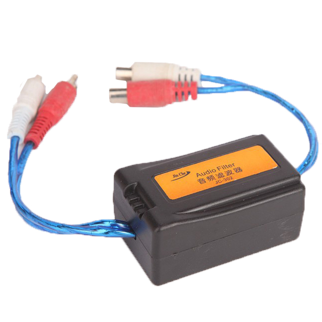Special Price Hot Sell 3.5MM 6.3*3.8*3CM Easy to install Suppressor Car RCA Amplifier 1PC High Quality Noise Filter Ground Loop Isolator