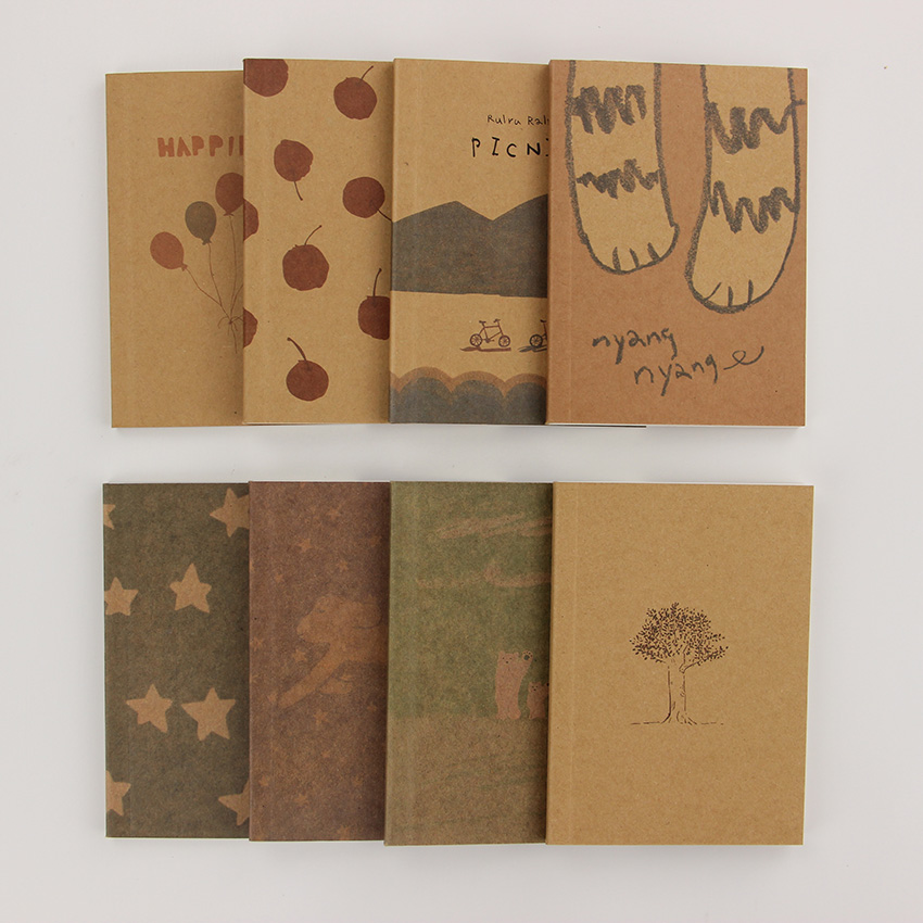 1PC Mini Cute Notebook Old Painting Diary Day Planner Journal Record Stationery Office School Supplies
