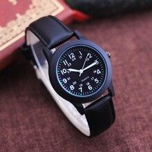 cyd famous women men high quality fashion leather quartz wristwatches boys children 24 hours luminous hands waterproof watches