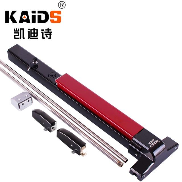 KAIDS ברזל צבע יציאה מכשיר דלת אש בריחה דלתות נעילת Push בר מנעול לצאת עם מעורר פונקציה