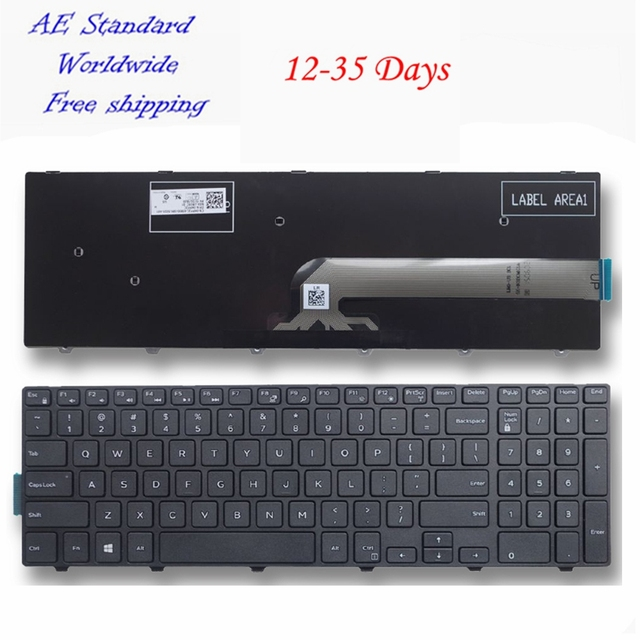 Клавиатура для ноутбука DELL для INSPIRON 15R 3542 15MR 1528 N5547 N5545 5545 черный новый английский
