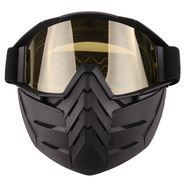 Simple Style Tactical Mask Soft Bullet Dart Protective Mirror Face Mask for  Nerf - Black