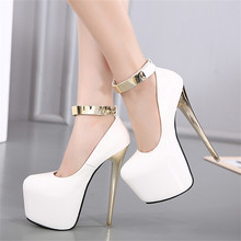 Women Platform Pumps Super High Heels 18 CM Stiletto High Heel Shoes Woman New Design Party Wedding Shoes Big Size 34-40
