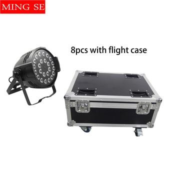 8 ユニット 24 × 12 ワット RGBW 4in1 アルミ LED パーライト舞台照明ビーム光プロジェクター飛行ケース