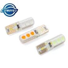 Оптовая продажа 100 шт T10 led W5W 6 SMD CANBUS 5050 Автомобильные Внутренние светодиодные лампы DC12V 6led водонепроницаемые Предупреждение Ошибок Лампы 12В