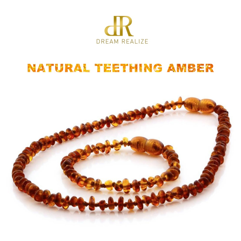 HTB1lW7VJ79WBuNjSspeq6yz5VXaw DR Classic Natural Amber Necklace Supply Certificate Authenticity Genuine Baltic Amber Stone Baby Necklace Gift 10 Color 14-33cm