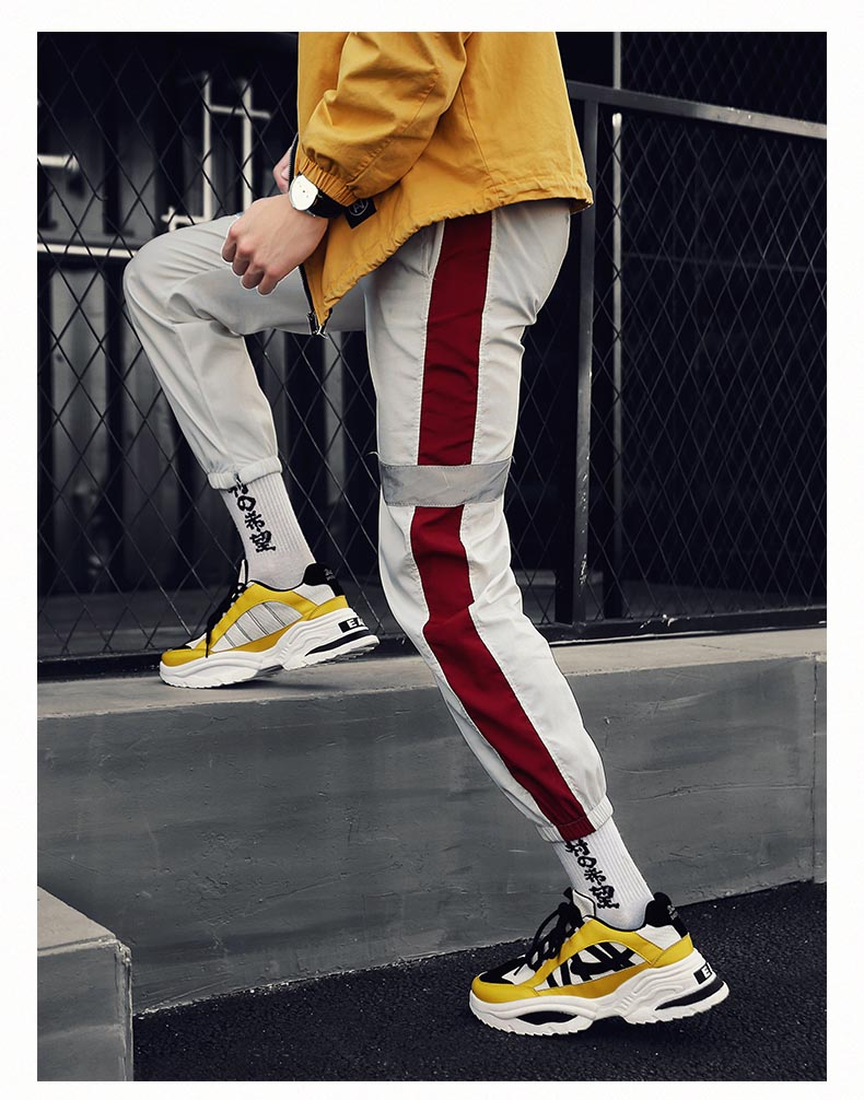 HTB1lW7 aOfrK1RjSspbq6A4pFXak BomKinta Stylish Designer Casual Shoes Men Yellow Sneakers Black White Walking Footwear Breathable Mesh Sneakers Men Shoes