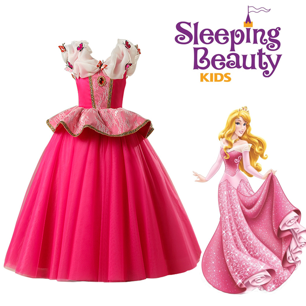 Sleeping Beauty Princess Aurora Dress Halloween Costume For Girls