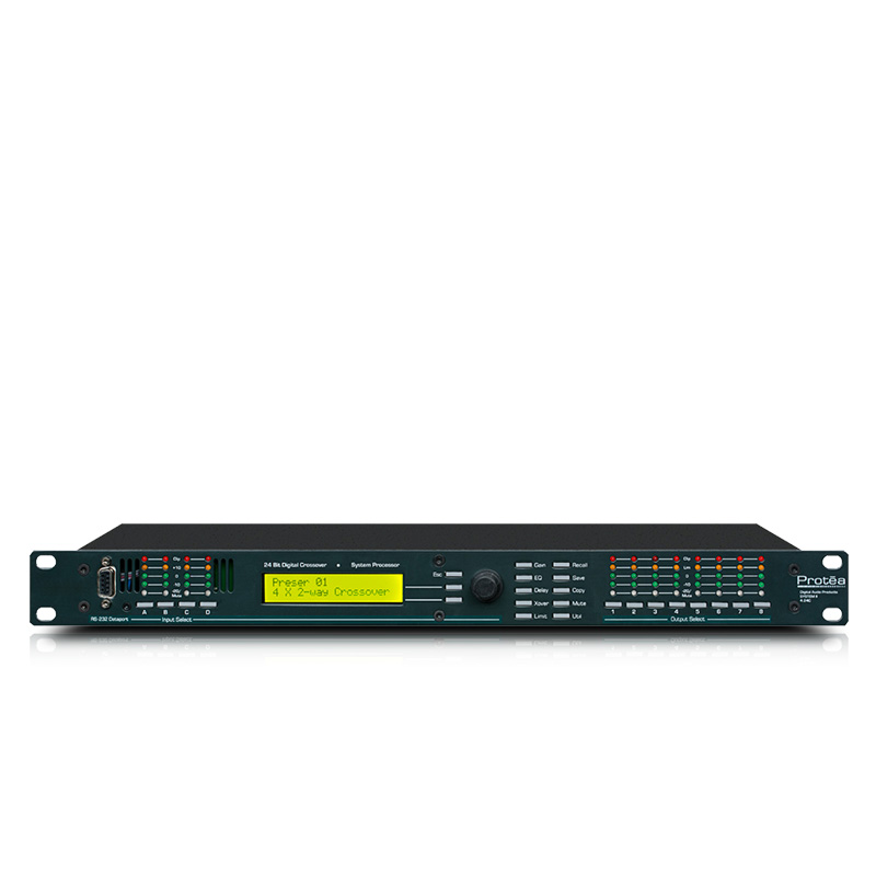 Speaker Processor 4 24C 1U Rackmount Fully Programmable 4 Input 8 Output 24 Bit Digital Audio