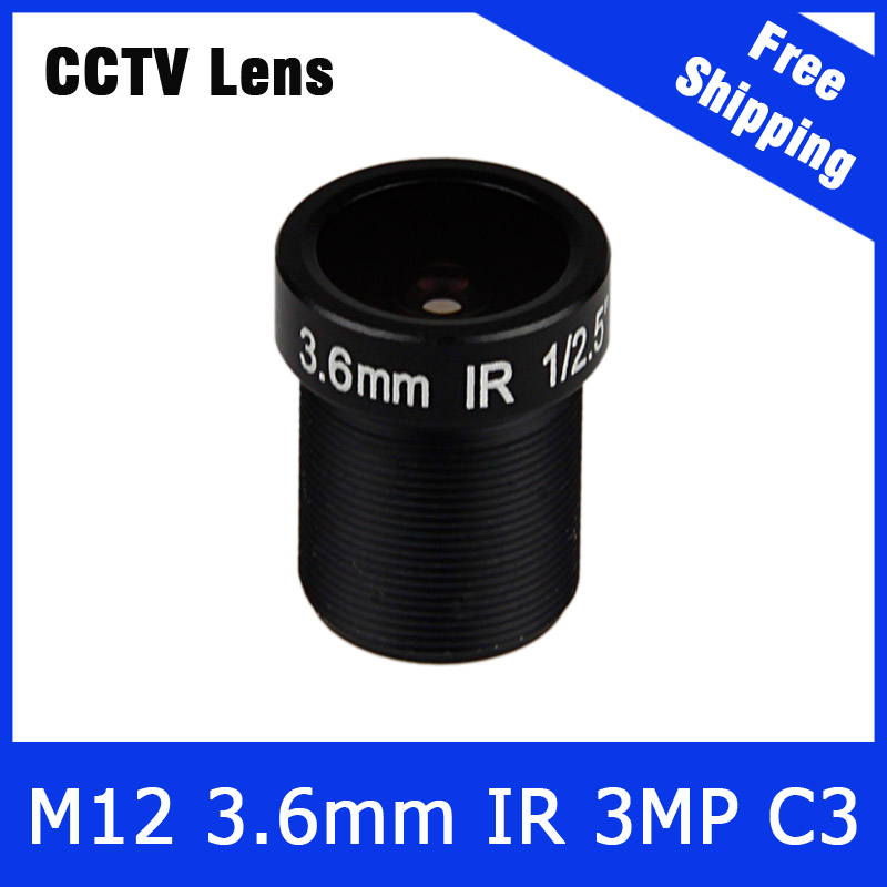 3Megapixel Fixed M12 CCTV Lens 1/2.5 inch 3.6mm For OV2710/AR0230 720P/1080P IP Camera or AHD/CVI/TVI CCTV Camera Free Shipping 3megapixel fixed m12 cctv lens 1 2 5 inch 3 6mm for ov2710 ar0230 720p 1080p ip camera or ahd cvi tvi cctv camera free shipping