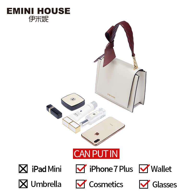 Emini casa arco-nó bolsa de ombro crossbody sacos para mulheres bolsas de luxo bolsas femininas designer split couro bolsa feminina