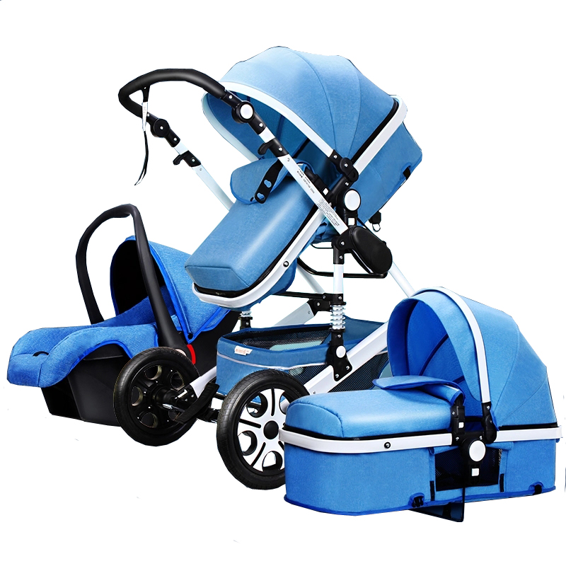 Luxury Multi function Trolley Baby Stroller 3 in 1 High Landscape Baby Carriage Seat and Sleeping
