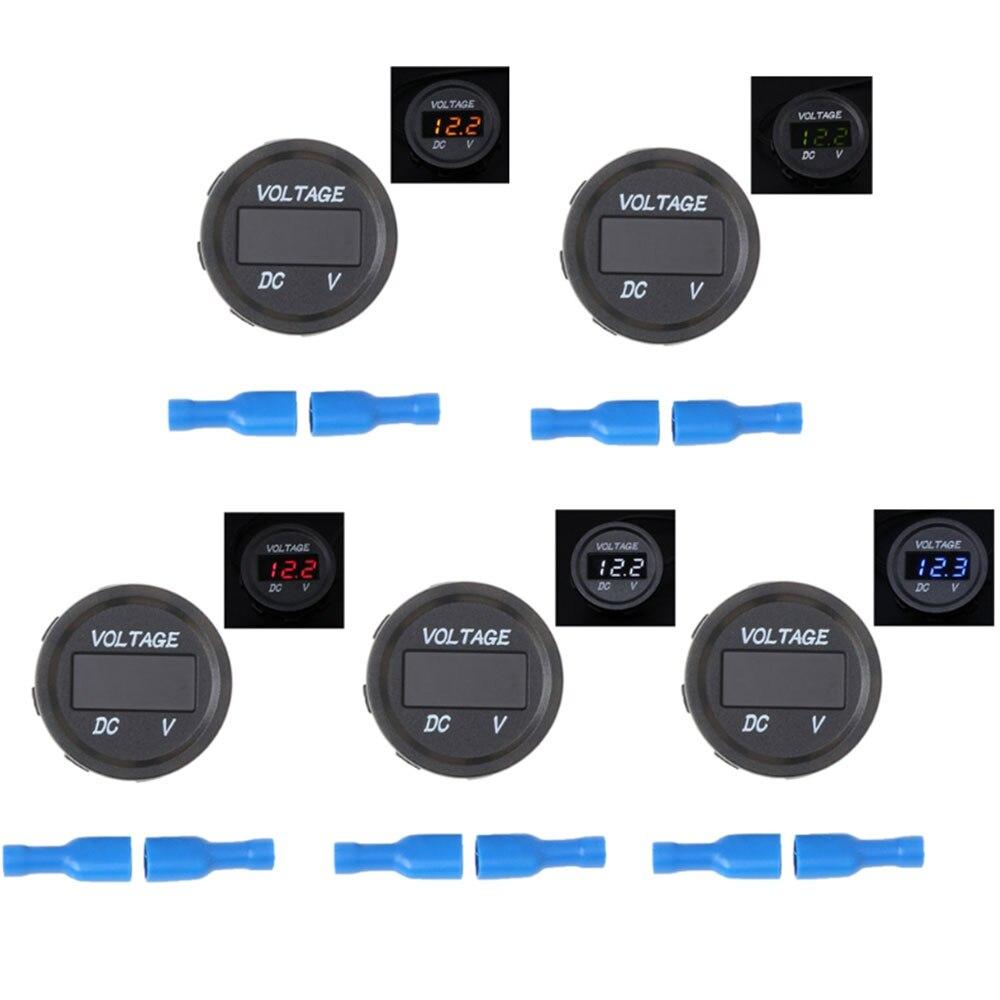Измеритель напряжения 5 цветов дисплей прочный напряжение дисплей лодка вольтметр универсальный модифицированный