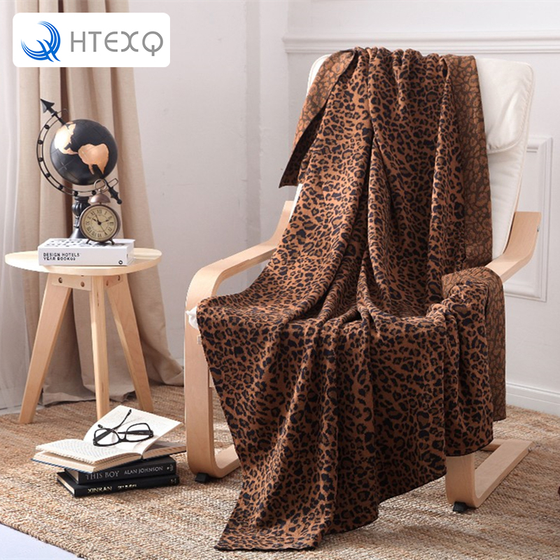 ФОТО Super Soft Home Blankets Leopard grain Design printing Bedspreads for Bed and Sofa Free Shipping