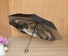 Фотография Creative Anti UV Men Umbrella Fully Automatic Compact Travel Umbrella Auto Open Close Womens Umbrella