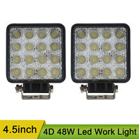 4 5inch 48W Led Work Light Spotlight Driving Light Pods Offroad Square Work Lamp For Off