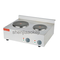 Edelstahl doppel-kopf kochen herd Kommerziellen Doppel Heißer Platte für Kochen Elektroherd 220-240v 3600w 1pc