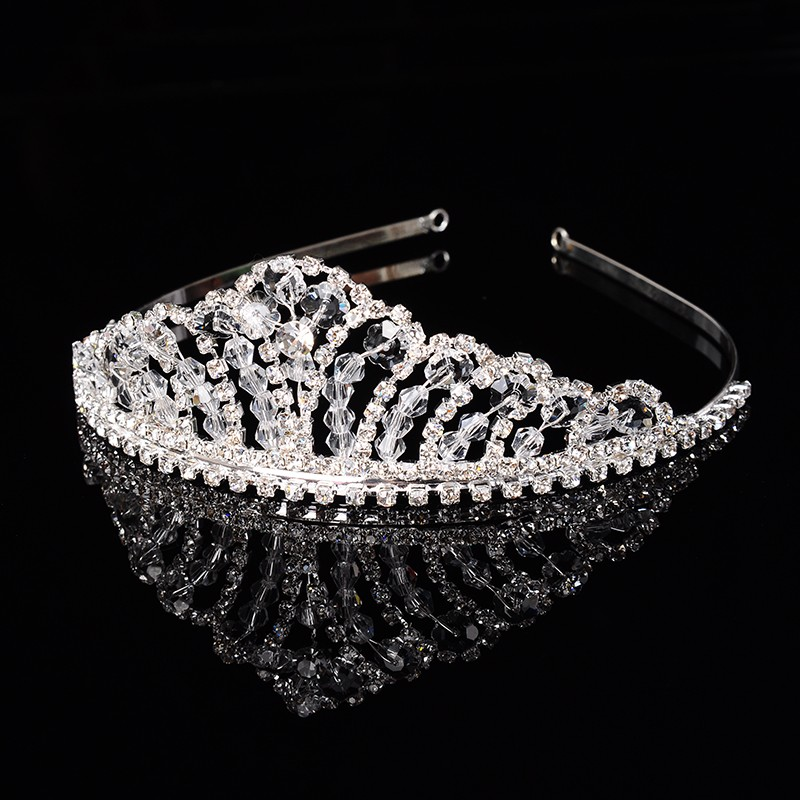 925 sterling silver luxury queen crown for women shine Austrian crystal tiara for bride wedding hair accessories 585 gold plated jewelry gifts HF012 (1)