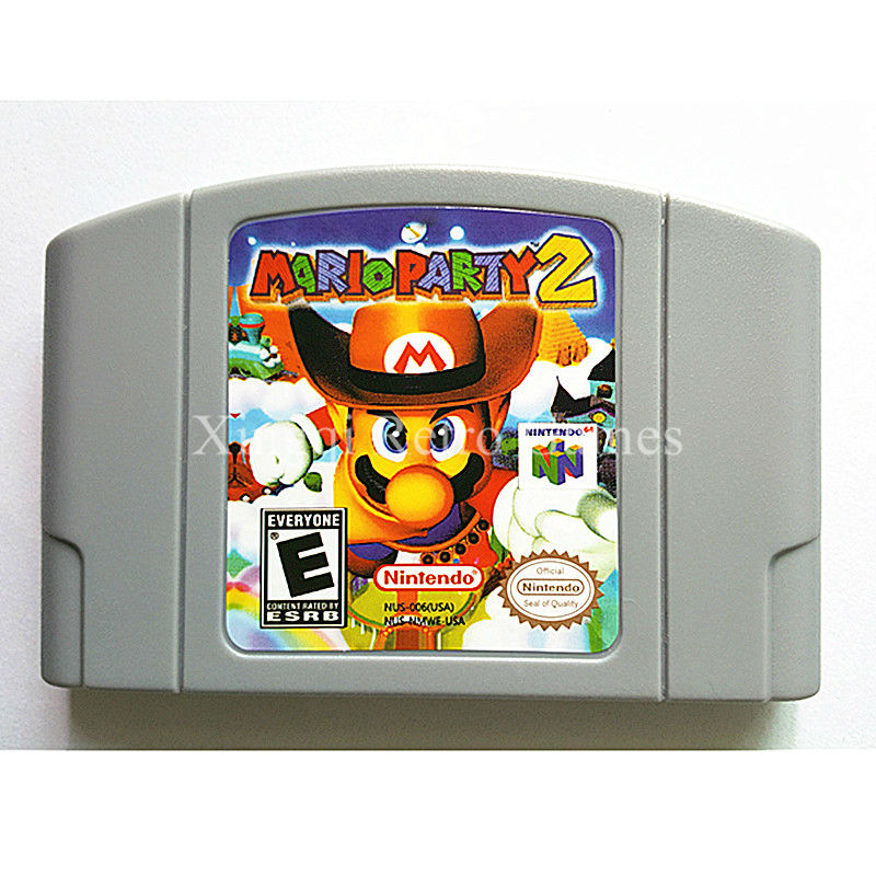 Nintendo 64 Game Mario Party 2 Video Game Cartridge Console Card English Language US Version
