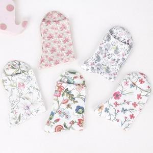 Image 5 - 5 Pairs Damensocken Vintage Blumen 3D Full Print Sock frauen Kurze Socken Schöne Sokken Baumwolle Strumpfwaren Elegante Socken Mädchen Meias