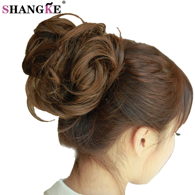 Curly Heat Resistant Synthetic Hair Pieces Colors Women Chignon With