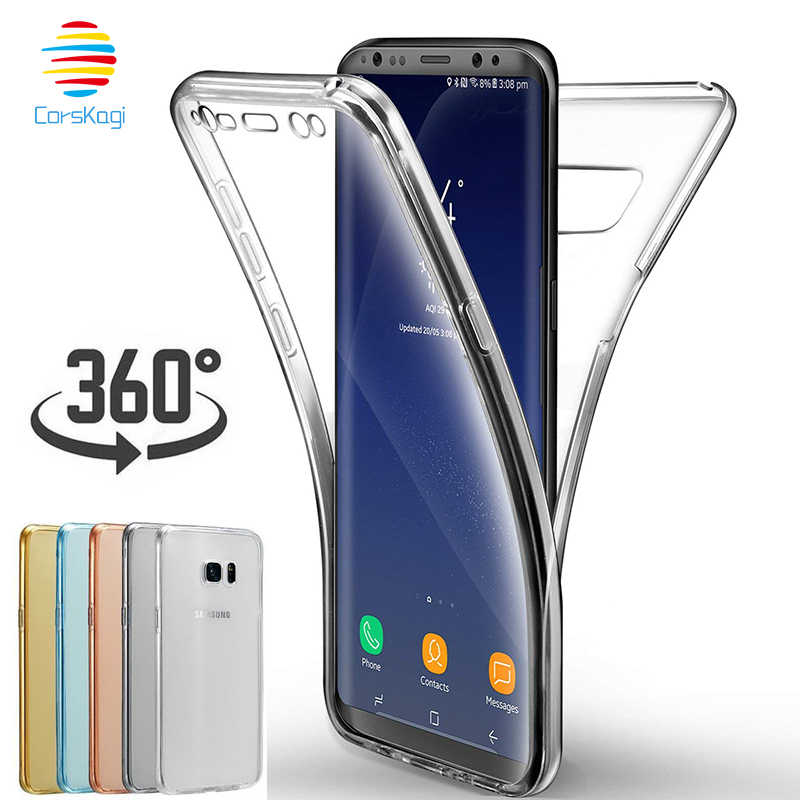 360 Graden Full Body Case voor Samsung Galaxy S5 S6 S7 rand S8 S9 Plus S10 S10e NOTE 4 5 8 9 iPhone XS Max XR 6 6 s 7 8X5 S CASE