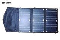 GGX ENERGY 21 Watt Foldable Sunpower Solar Cells Panel + 20000mah Power Bank Portable Battery for Laptop/Mobile Phones/Tablets