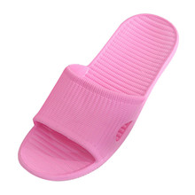 Hot Marketing Slippers Summer Floor Skid Proof Home Floor Slippers Indoor Family Stripe Flat Bathroom Bath Sandal Slippers Women