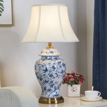 China Antique Living Room Vintage Table Lamp Porcelain Ceramic wedding decoration vase table lamp