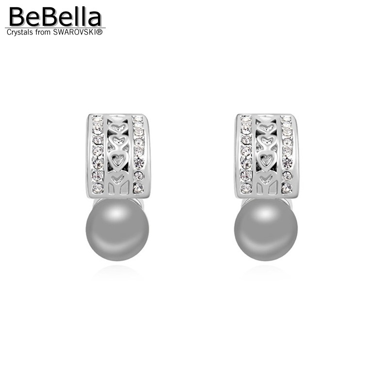 BeBella trendy pearl stud earrings design for woman made with ...