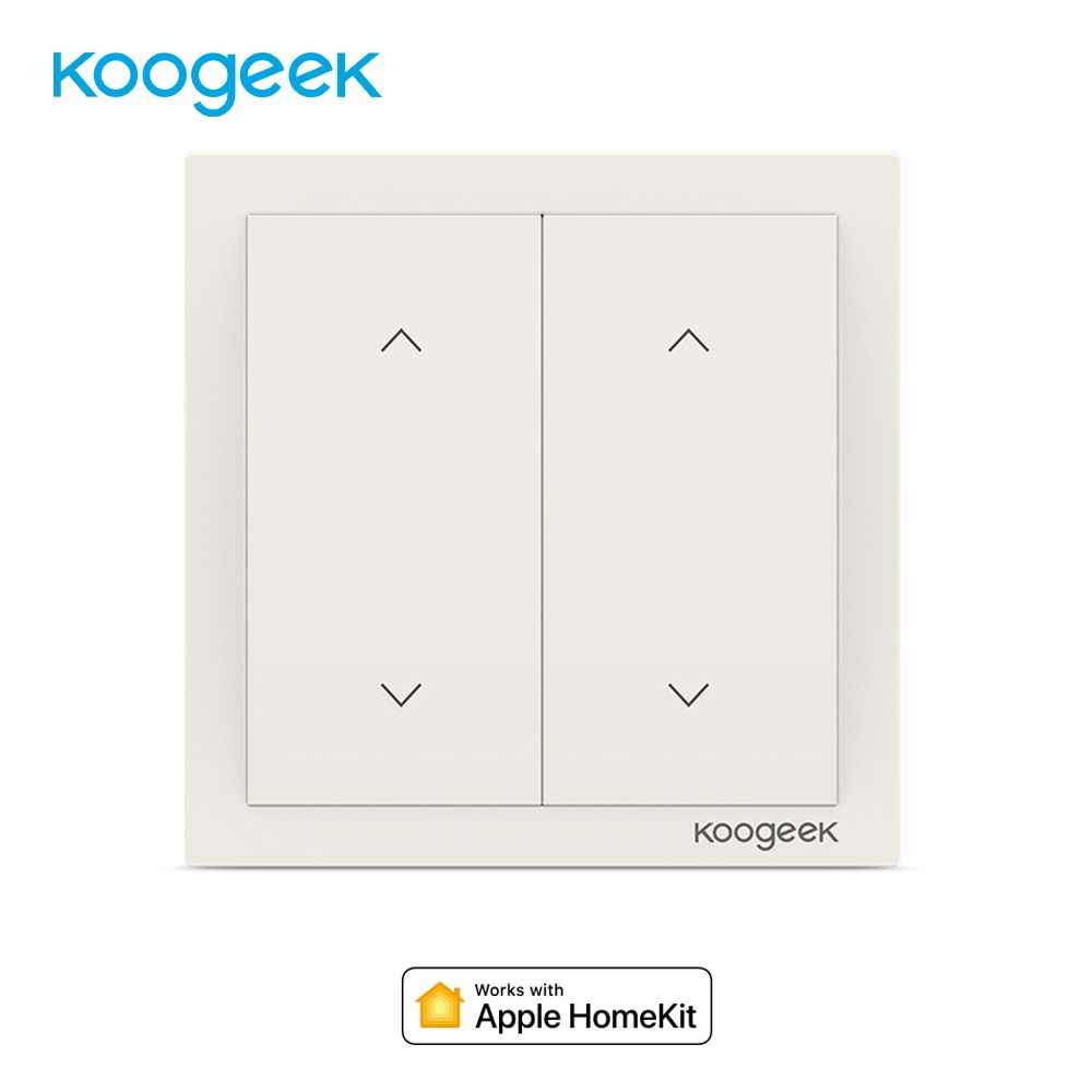 Koogeek 2 Gang WiFi Smart Switch Light Dimmer Wall Switch Voice Remote Control for HomeKit Alexa Google Home Energy Monitor