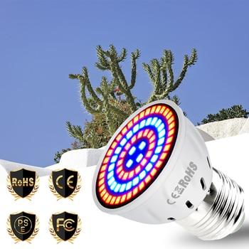 E27 Grow Light LED Phyto Lamp Full Spectrum E14 LED Bulb Flower GU10 Indoor Plant Light MR16 220V Grow Tent 48 60 80led Lamp B22 e27 full spectrum e14 220v led plant grow light bulb phyto lamp for indoor gu10 garden flower hydroponics mr16 grow tent box b22