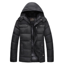 Winter Jacket Hoodies Men Zipper Male Coat Casual Thick Outwear Guy Fashion Stylish Clothing Down Parkas RAA0619