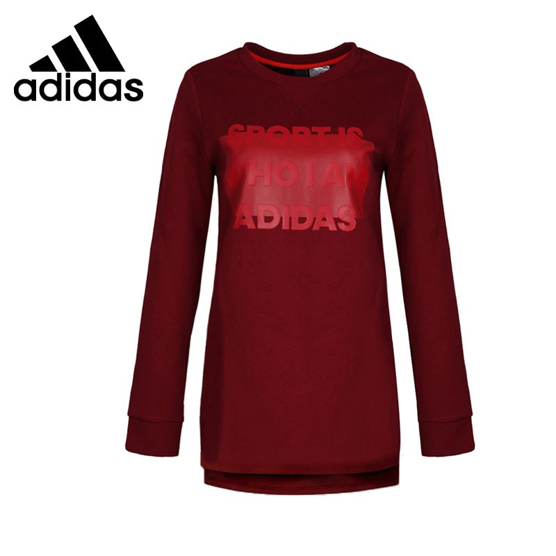 Original New Arrival 2017 Adidas GFX CREW LONG D Women's Pullover Jerseys Sportswear original new arrival 2017 converse men s pullover jerseys sportswear