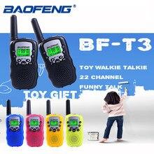 2 pçs baofeng BF-T3 pmr446 walkie talkie melhor presente para crianças rádio handheld t3 mini rádio em dois sentidos sem fio crianças brinquedo woki toki