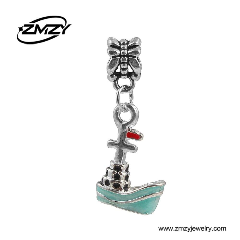 Mini Style Corsair Charms Beads Pendant New European Diy Silver Plated Beads fits Pandora Charm Bracelet Necklace