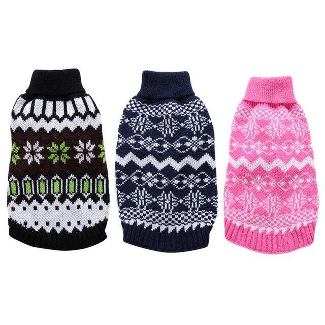 2017 Christmas Style Nordic Fair Isle Dog Sweater or Round Argyle ...