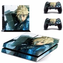 Anime Final Fantasy Cloud PS4 Designer Skin Game Console System plus 2 Controller Decal Vinyl Protective Covers Stickers(China)