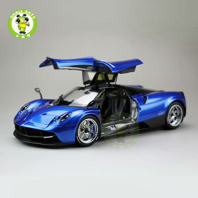 1:18 Pagani Automobili Huayra Diecast Supercar Model Toys - Welly GT Autos 11007 Blue