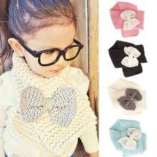 Emmaaby/ осенне-зимний теплый шарф, шаль-снуд для маленьких девочек, шарфы
