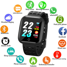 Купить с кэшбэком LIGE Smart Bracelet Men Fitness Tracker Pedometer Heart Rate Blood Pressure Monitor Fashion Smart Watch Pedometer Fitness Watch