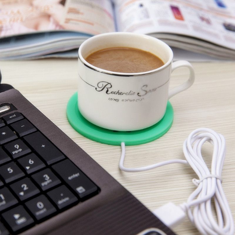 4 USB Hub Electric Powered Drink Cup Warmer Pad Plate For Office and Home Use wired muti function tea coffee cup mug warmer heater office pad with 4 port hub usb gadget for pc for mac aqjg
