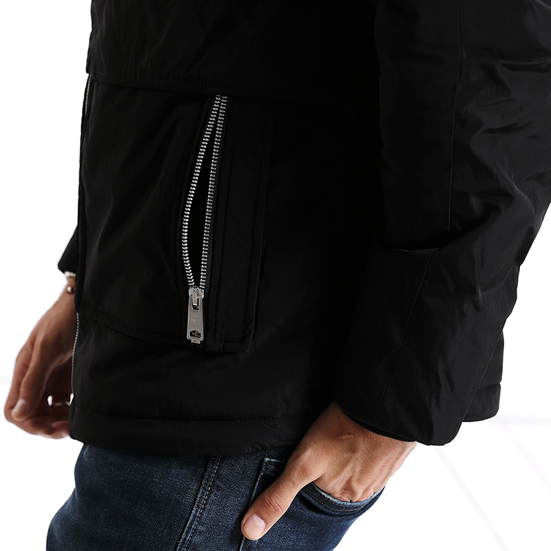 SIMWOOD New 2019 Winter Men Outerwear Plus Size Polyester Thin Fashion Mens Jacket parka Spring Casual Black Warm Coat MC017003-in Parkas from Men's Clothing    3